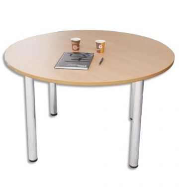 SODEMATUB Table ronde diamètre 120 cm 4 pieds alu