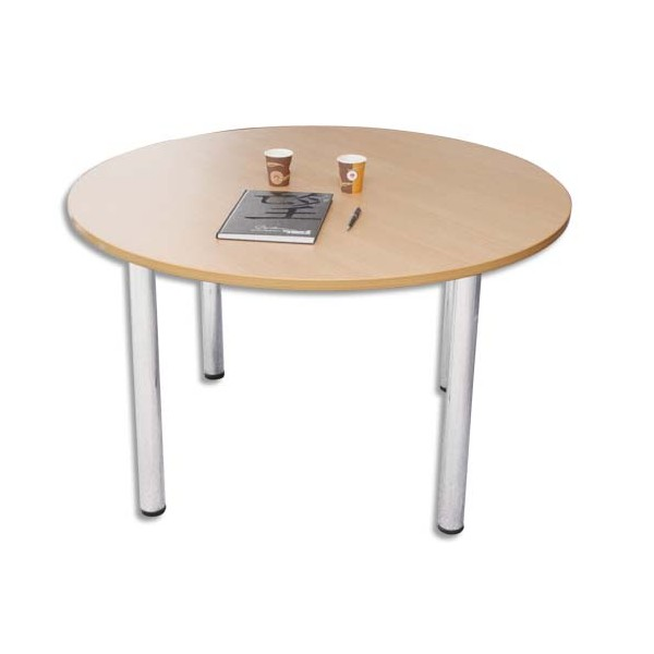 SODEMATUB Table ronde diamètre 120 cm 4 pieds alu (photo)