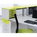 SIMMOB Rehausse rangement box coloris blanc tiroir anis 80 x 38 x 41 cm