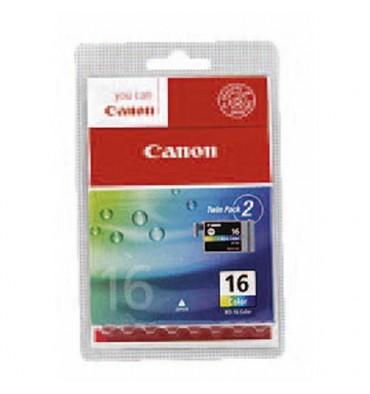 CANON Cartouches jet d'encre couleurs cyan, magenta, jaune BCI16CL