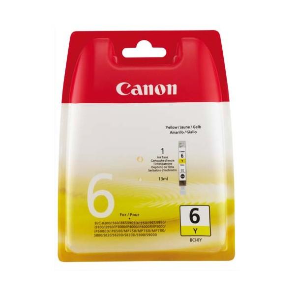 CANON Cartouche jet d'encre jaune BCI-6 Y