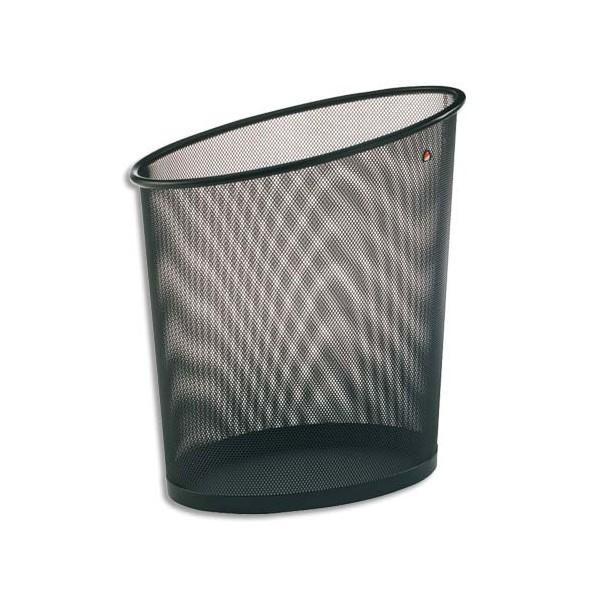ALBA Corbeille à papier en métal MESH 18 L noir (photo)