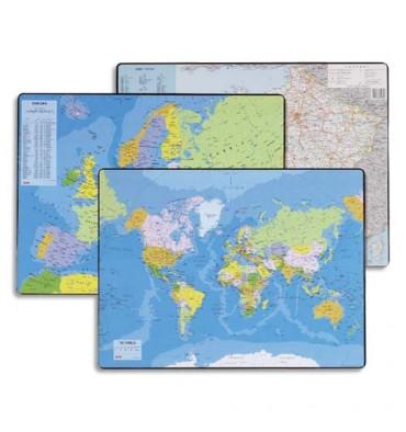 ESSELTE Sous mains carte du Monde, dimensions 53 x 40 cm