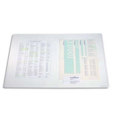 DURABLE Sous main Duraglas transparent 65 x 50 cm