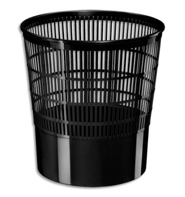 CEP Corbeille à papier ajourée Ecoline 16 litres noir