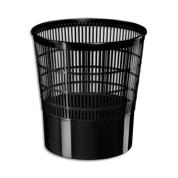 CEP Corbeille à papier ajourée Ecoline 16 litres noir (photo)