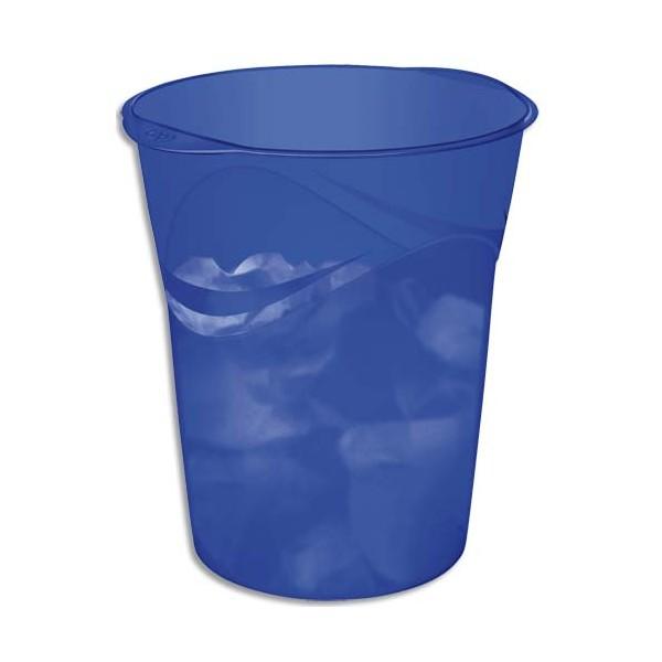 CEP Corbeille à papier 14L Happy bleu (photo)