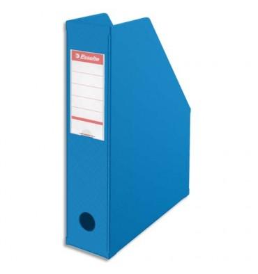 ESSELTE Porte-revues en PVC soudé, dos de 7 cm, bleu