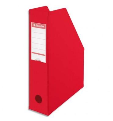 ESSELTE Porte-revues en PVC soudé, dos de 7 cm, rouge