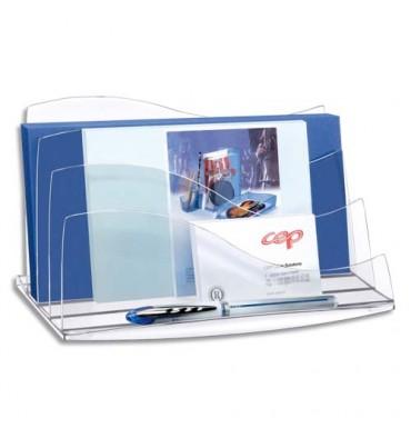 CEP Trieur à enveloppes Ellypse 22,5 x 12,7 x 13 cm coloris cristal