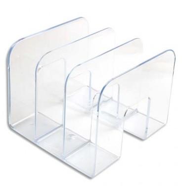 DURABLE Trieur vertical 3 compartiments Business cristal transparent