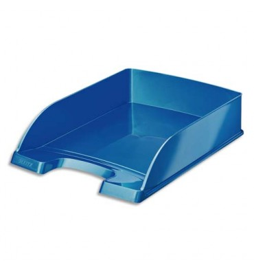 LEITZ Corbeille à courrier Leitz Plus - WOW bleu métallisé
