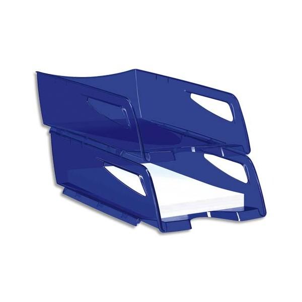 CEP PRO BY CEP Maxi corbeille à courrier Happy 220T - 25 x 10,1 x 34 cm - coloris bleu électrique