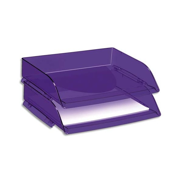 CEP PRO BY CEP Corbeille à courrier Happy 135 à l'italienne coloris ultra violet