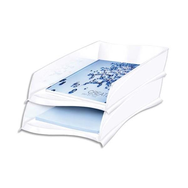 CEP Corbeille à courrier Ellypse 300, 25,7 x 8,2 x 38 cm, coloris blanc arctique