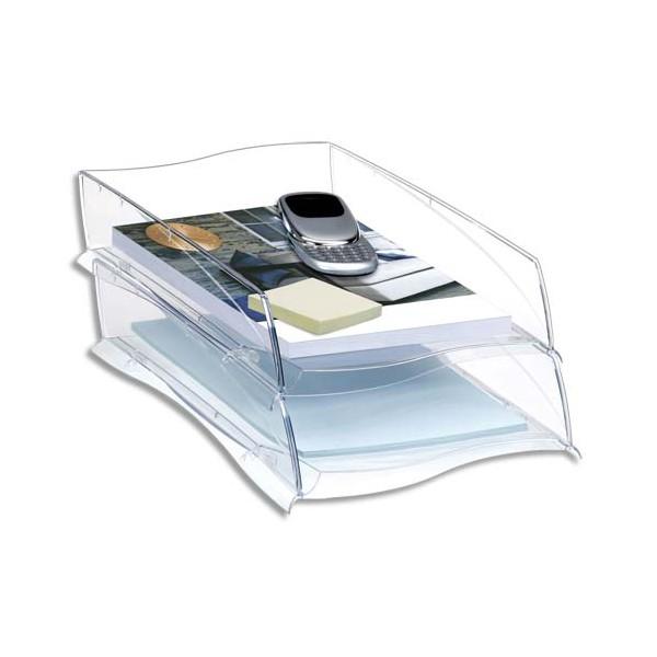 CEP Corbeille à courrier Ellypse 300, 25,7 x 8,2 x 38 cm, coloris cristal