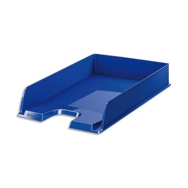 ESSELTE Corbeille à courrier EUROPOST - Bleu opaque - 25,5 x 6,5 x 34,8 cm
