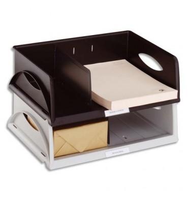 LEITZ Corbeille Sorty format à l'italienne Jumbo - Noir - 40,5 x 12,5 x 30 cm