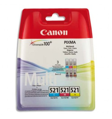 CANON Cartouches multipack jet d'encre cyan, magenta CLI-521