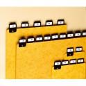 REXEL Jeu de 25 intercalaires avec onglet métallique pour boîte à fiches format A6 en hauteur