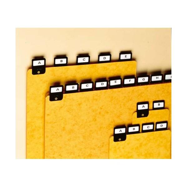 REXEL Jeu de 25 intercalaires avec onglet métallique pour boîte à fiches format A6 en largeur