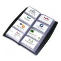 ELBA Porte-cartes de visite tout terrain noir capacité 240 cartes en PVC