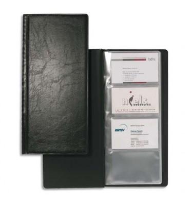 DURABLE Porte-cartes de visite Visifix noir capacité 192 cartes aspect grain de cuir