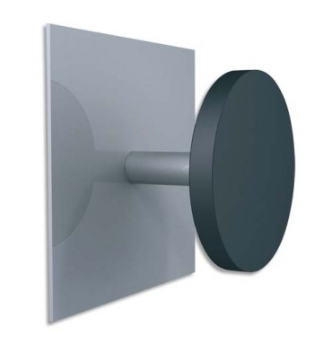 ALBA Patère fixation magnétique metal et plastique