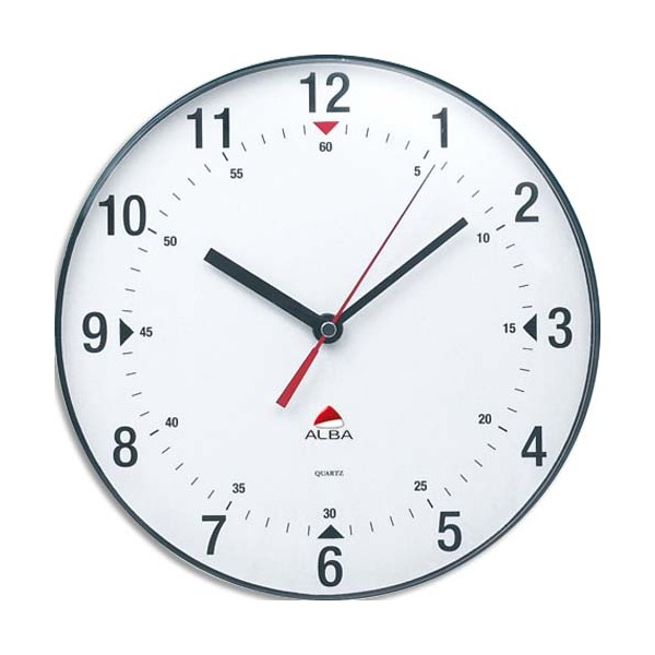 ALBA Horloge murale ronde diamètre 25 cm Horclass (photo)