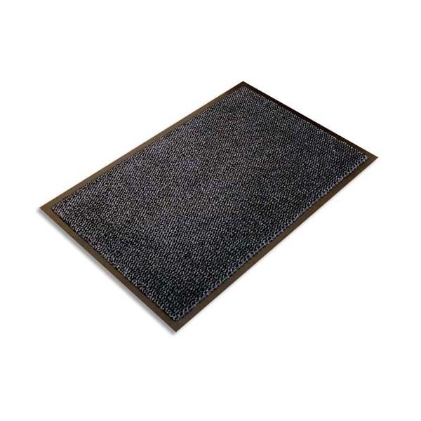 FLOORTEX Tapis d'accueil Ultimat gris vinyle, nylon et fibres renforcées 90 x 150 cm épaisseur 9 mm (photo)