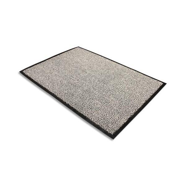 FLOORTEX Tapis d'accueil Advantage gris en polypropylène 90 x 150 cm épaisseur 10 mm (photo)