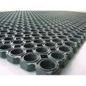 FLOORTEX Tapis Caillebotis noir en caoutchouc d'intérieur et d'extérieur 100 x 150 cm épaisseur 22 mm