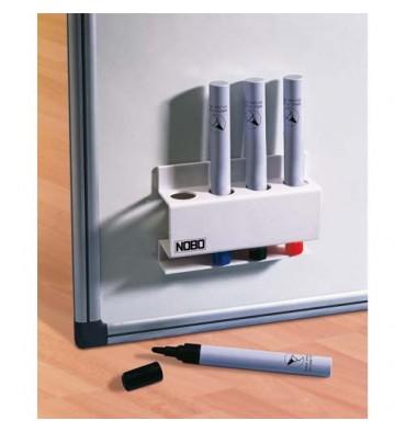 NOBO Porte-marqueurs magnétique rectangulaire, dimensions L12 x H8 x P3,2 cm