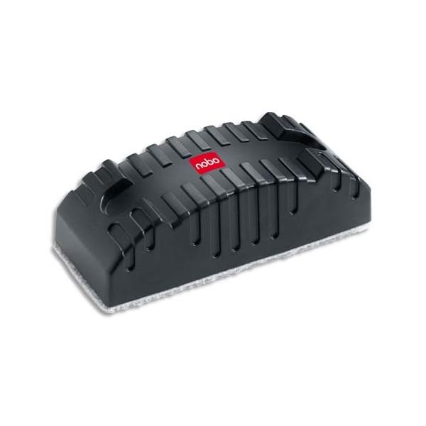 NOBO Effaçeur Design magnétique rechargeable en plastique gris anthracite - L13,9 x H4,2 x P5,5 cm