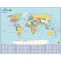 CBG Planisphère Monde Politique mural - Pelliculée format 66 x 84,5 cm - 4 œillets pour suspension