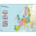CBG Carte Europe Politique murale - Pelliculée format 66 x 84,5 cm - 4 œillets pour suspension