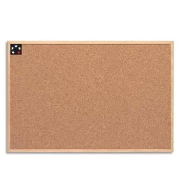 5 ETOILES Tableau en liège avec un cadre bois, format 40 x 60 cm
