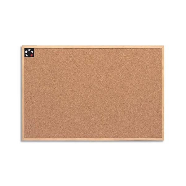 5 ETOILES Tableau en liège avec un cadre bois, format 60 x 90 cm (photo)