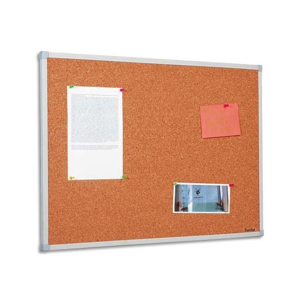 BI-OFFICE Tableau d'affichage liège cadre PVC 90 x 120 cm