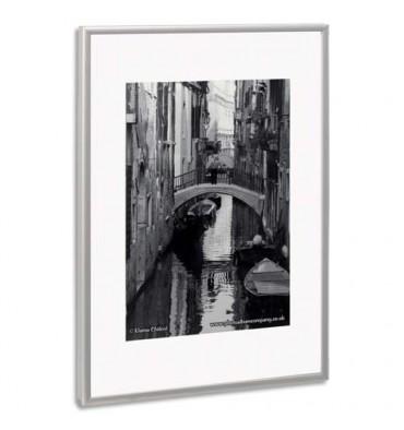PHOTO ALBUM COMPANY Cadre photo contour alu, plaque transparente incassable, format 59 x 84 cm