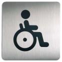 DURABLE Plaque de signalisation Toilettes Handicapés argent métallisé 15 x 15 cm