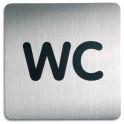 DURABLE Plaque de signalisation WC argent métallisé 15 x 15 cm