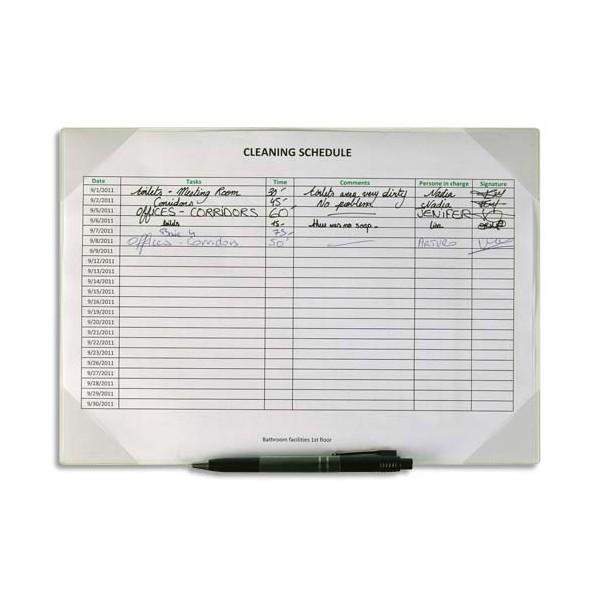 TVIEW BY TARIFOLD Sachet de 2 Pochettes Kang porte-copie blanc dos adhésif repositionnable, porte-stylo 35,5 x 24,3 cm
