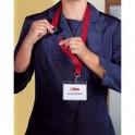 DURABLE Pack de 5 Kits porte-badges avec lacets noir en textile