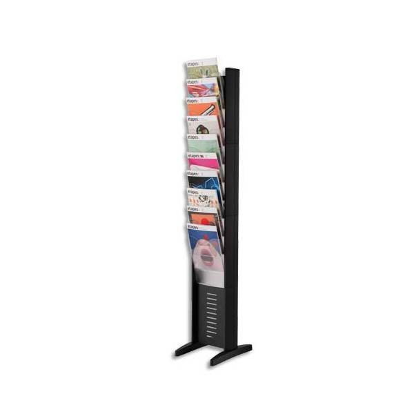 PAPERFLOW Présentoir EasyDisplays EPI Simple face 10 cases A4 Noir