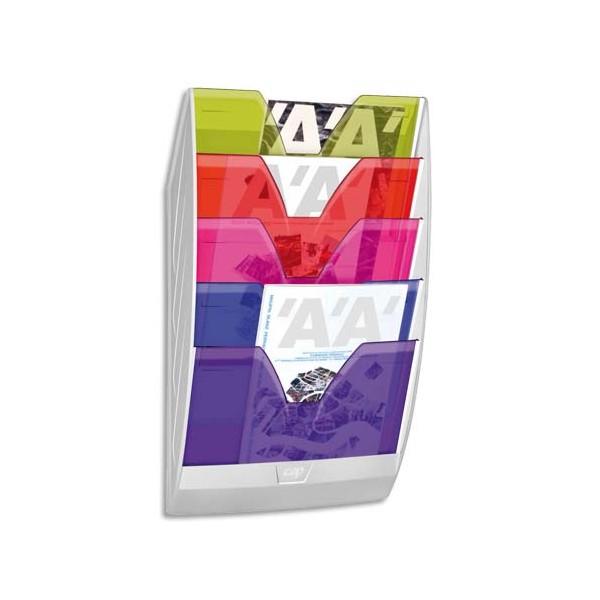 CEP Présentoir mural 154H HAPPY 5 cases multicolore