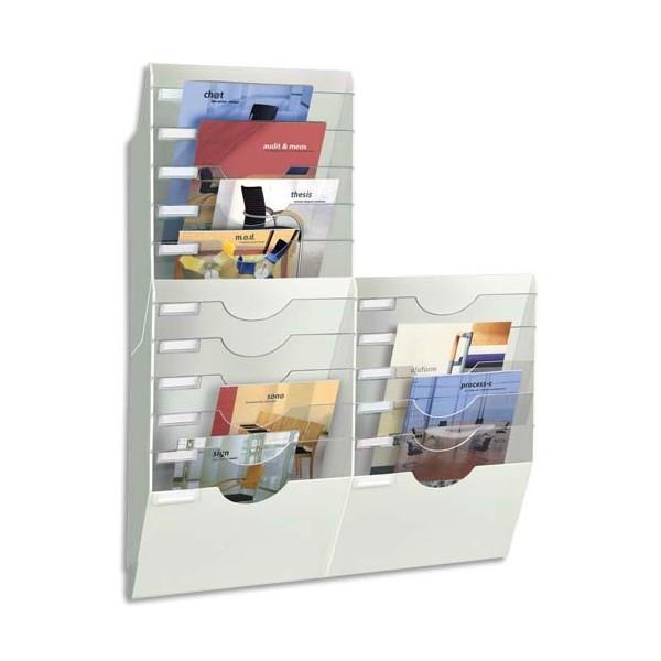 CEP Trieur mural expo blanc 6 compartiments modulables