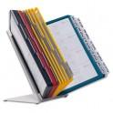 DURABLE Pupitre de table Vario - onglets indexation en bristol blanc - 30 pochettes A4 contours Assortis