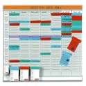 VALREX Planning OFFICE PLANNER 7 bandes de 24 fiches indice 2 + 1 bande index