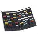 VAL-REX BY NOBO Paire de volets de couverture MINI-PLANNER 4 bandes de 17 fiches chacun indice 1,5